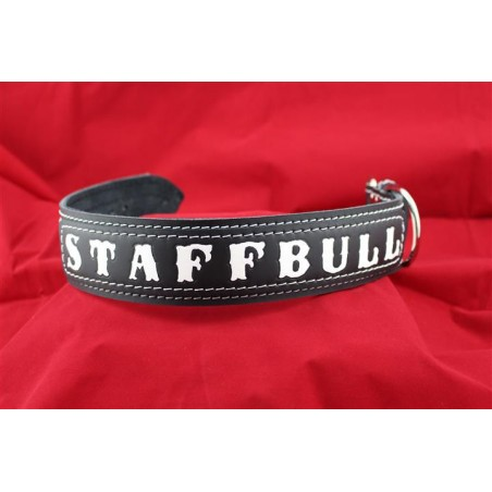 Lederhalsband - STAFFBULL black two