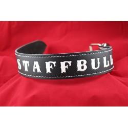 Lederhalsband - STAFFBULL black one