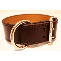 Lederhalsband Premium Brown (5 cm breit)