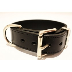 Lederhalsband Premium Black (4 cm breit)