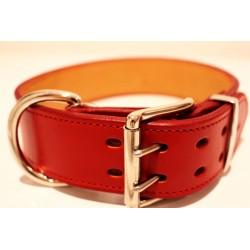 Lederhalsband Premium Red (5 cm breit)
