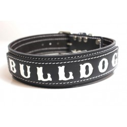 Lederhalsband - BULLDOG black two